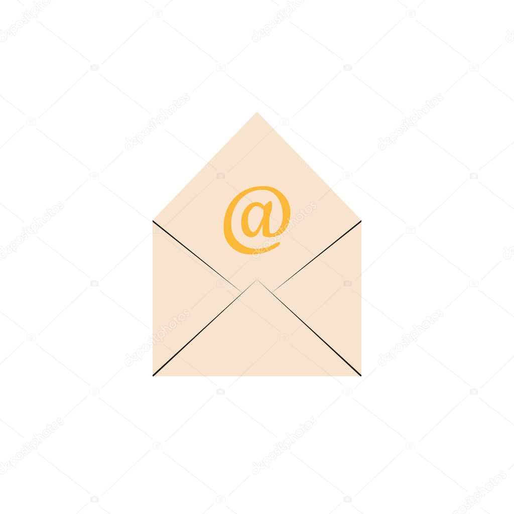 email isolated on white background