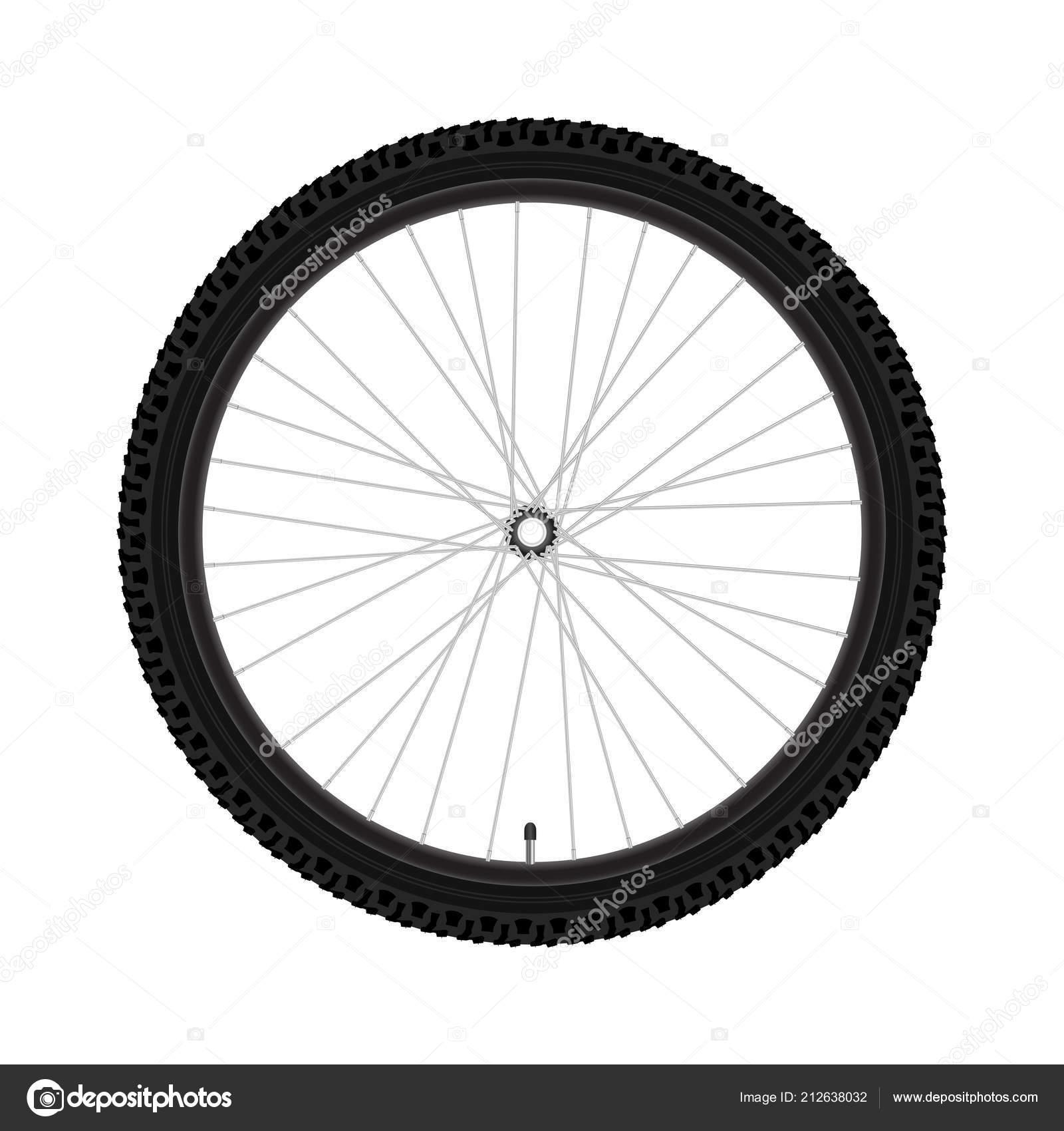 Vektor Fahrrad Rad Realistische Ausführliche Mountainbike Fahrrad