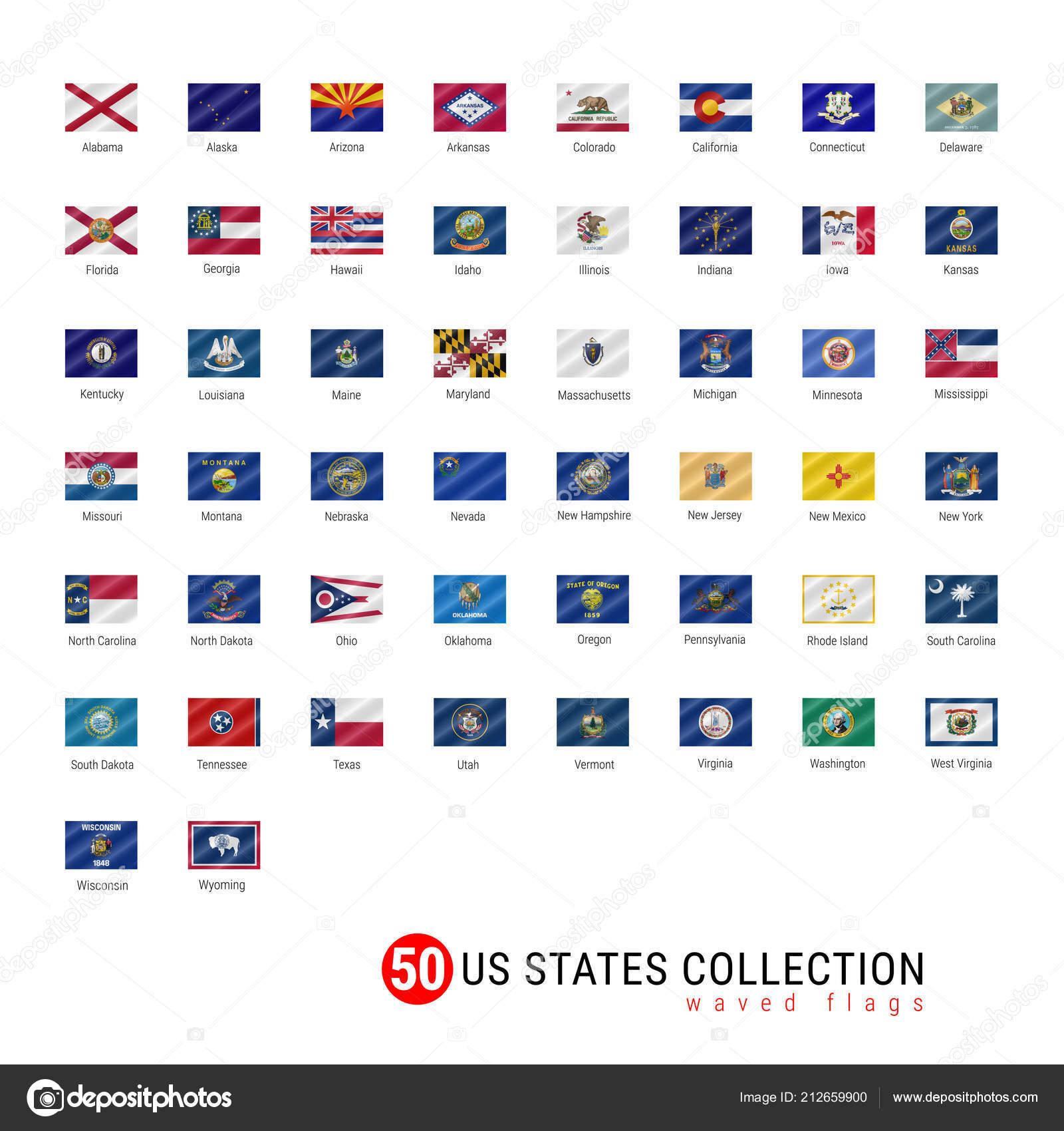 States Vector Flag Set Official Vector Flags All States States