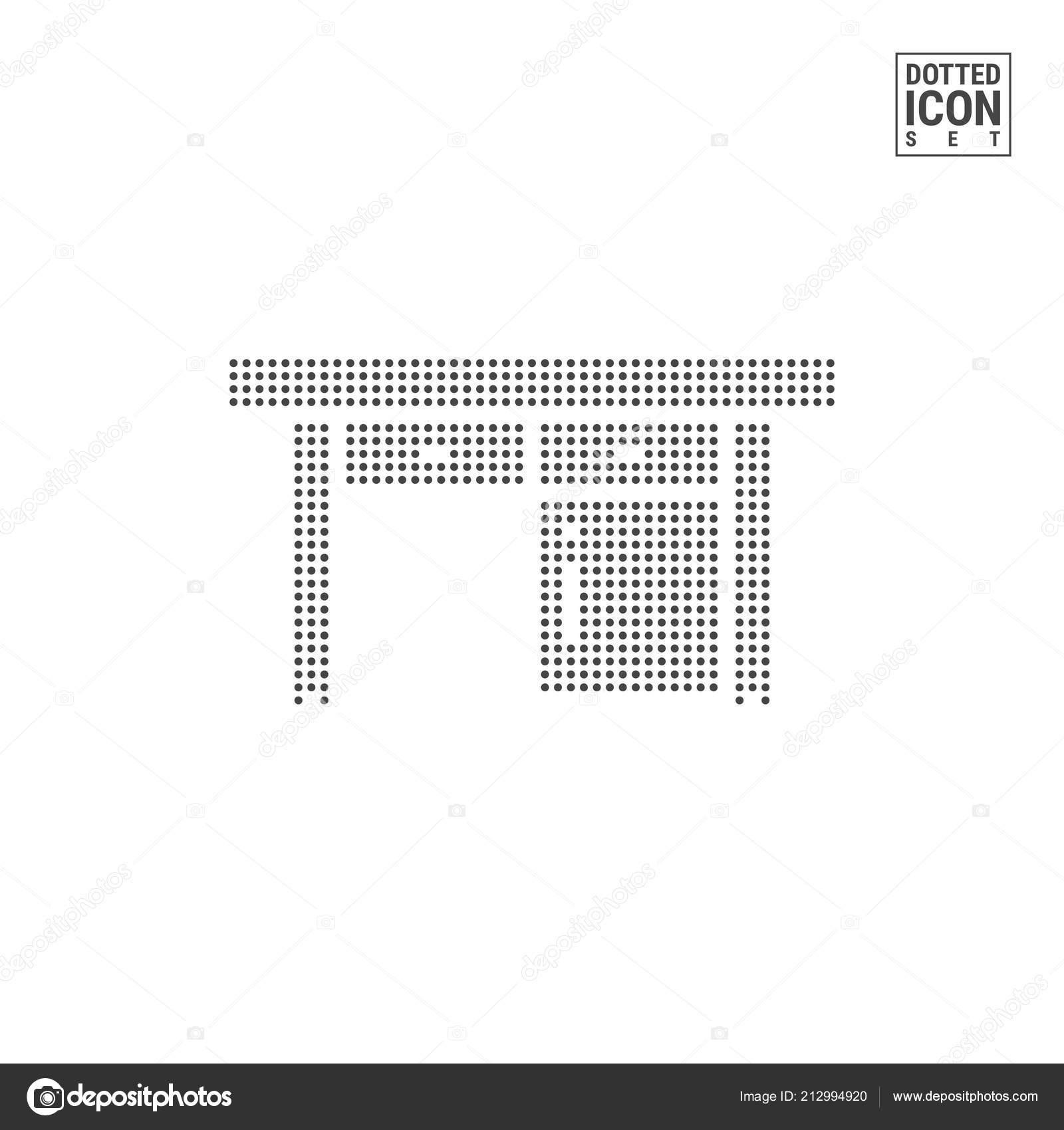 Bureau Décriture Dot Modèle Icône Bureau Pointillés Icône