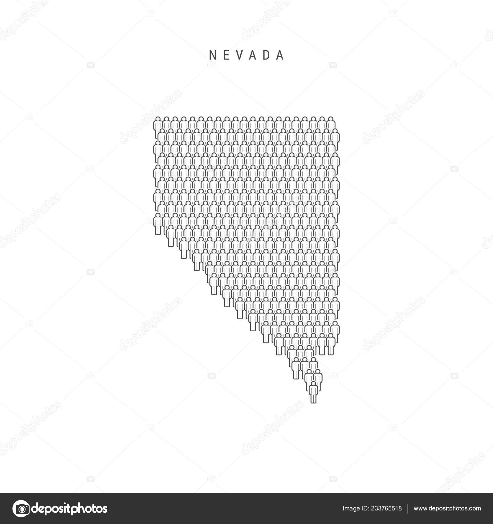 Vector People Map Nevada State Stylized Silhouette People Crowd Shape Stock Vector C Ivanburchak 233765518