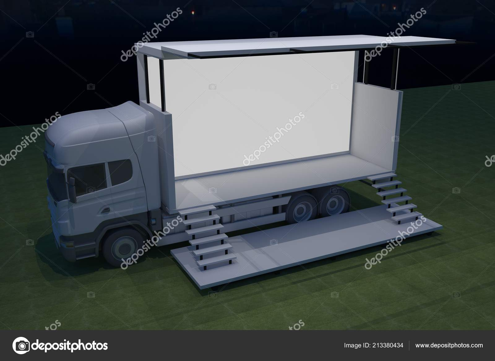 Exterior Truck Mobile Stage Event Led Light Night Staging