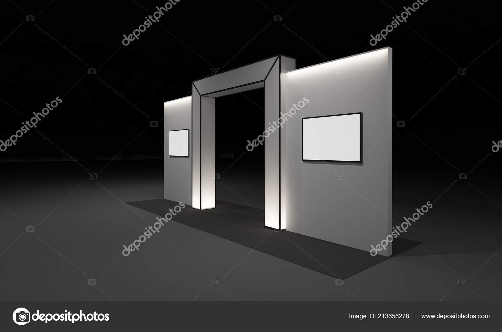Exhibition Booth Design Concept : Rendering gate entrance booth exhibition design concept interior