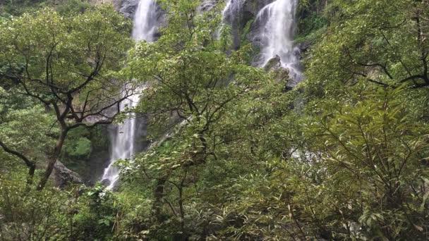 Video clip Khlong Lan Waterfall At Khlong Lan National Park Kamphaeng Phet Province of Thailand