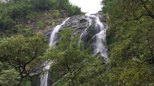 Video clip Khlong Lan Waterfall At Khlong Lan National Park Kamphaeng Phet Province of Thailand
