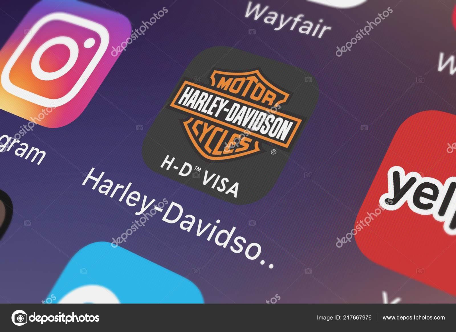 London United Kingdom September 2018 Close Shot Harley Davidson Visa