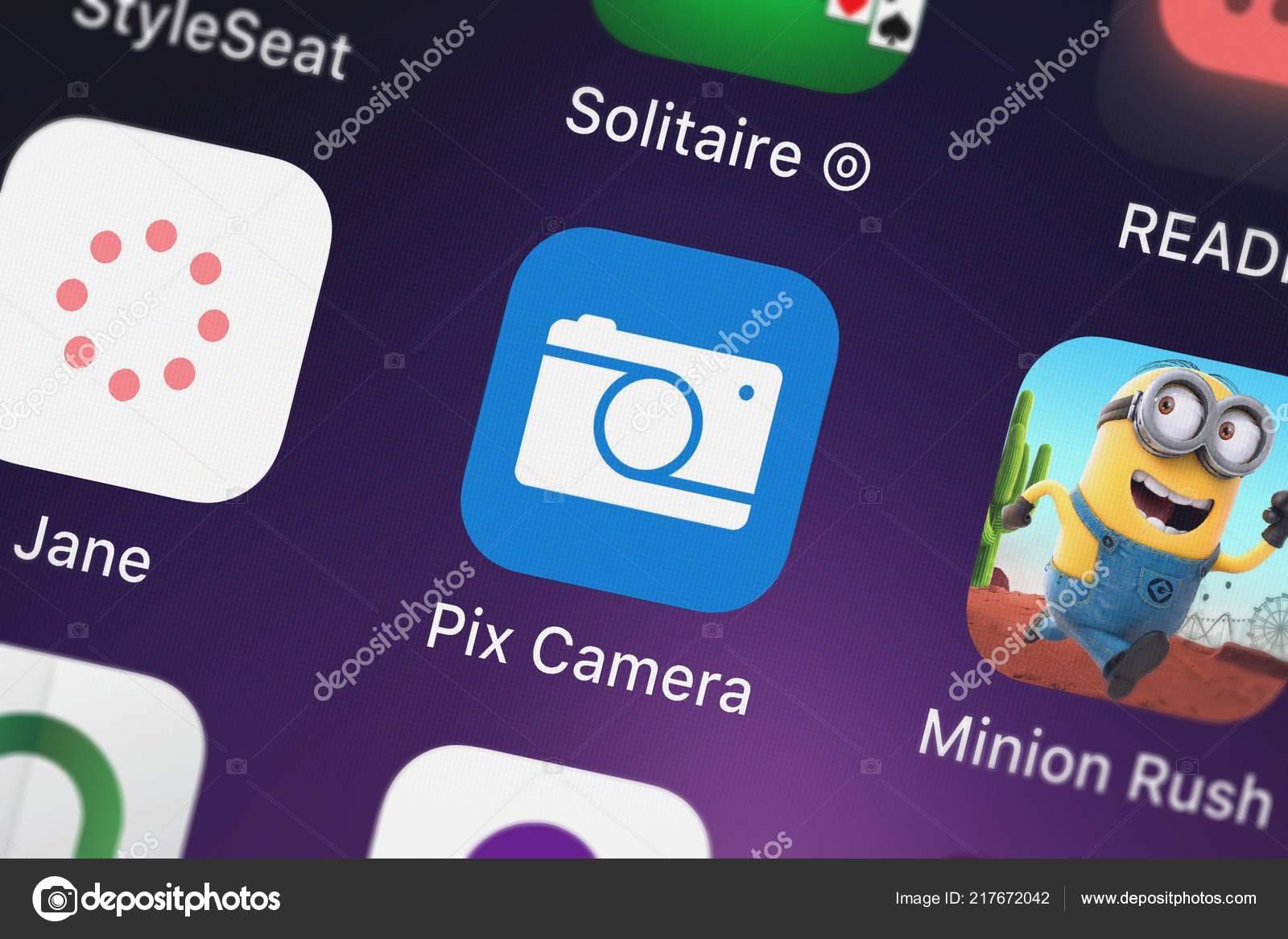 Minion Camera App : London vereinigtes königreich september 2018 screenshot von