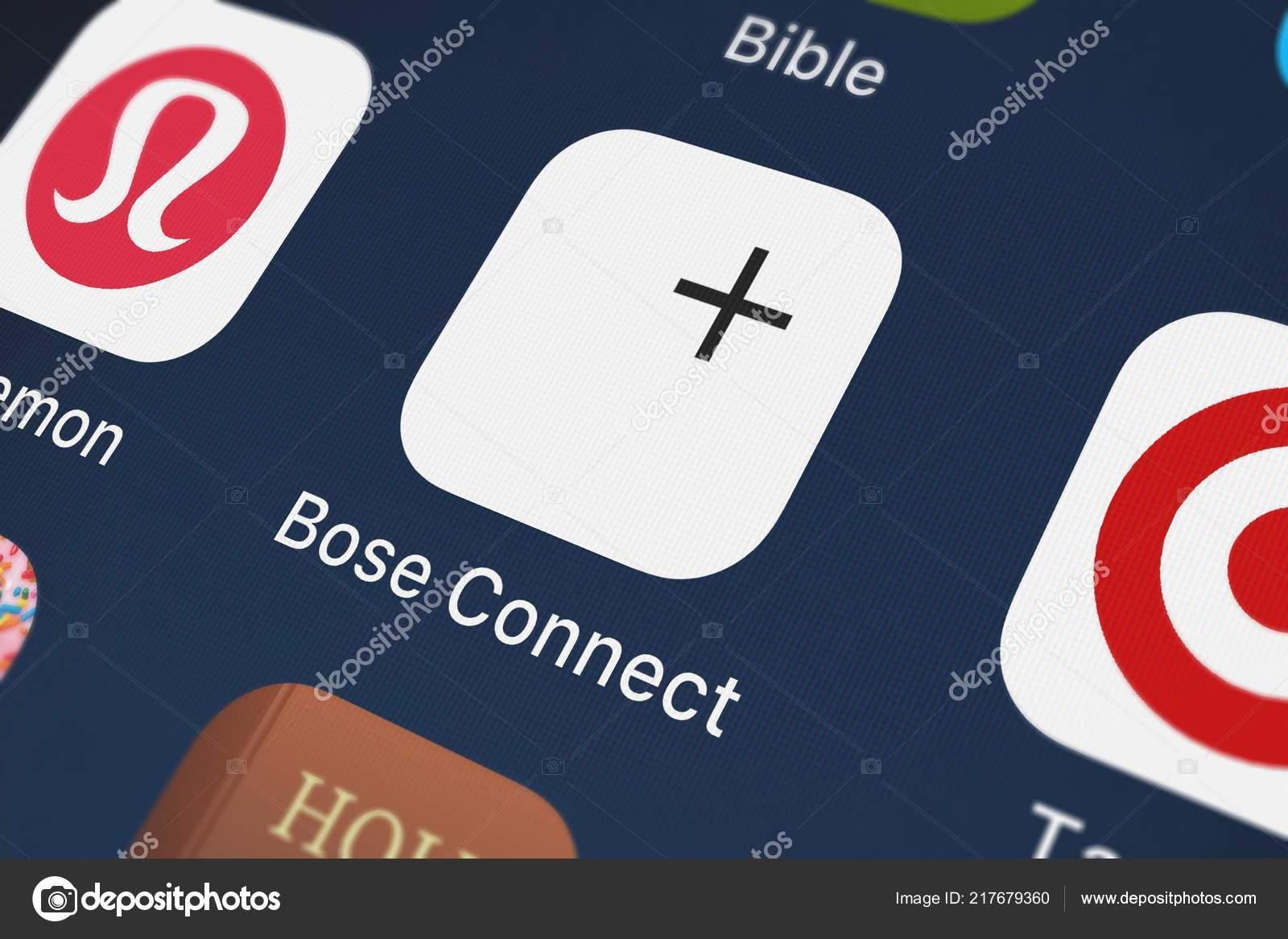 London United Kingdom September 2018 Screenshot Mobile App Bose