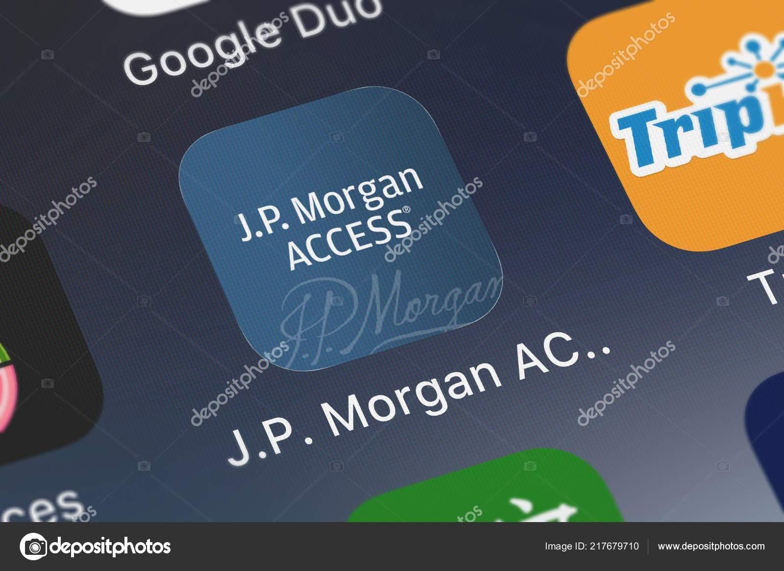 London United Kingdom September 2018 Screenshot Morgan Access Mobile