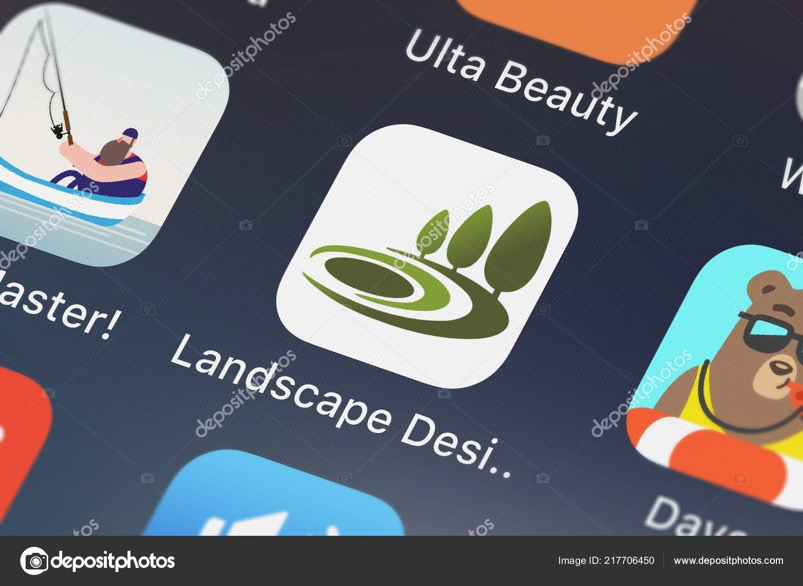 london united kingdom september 2018 screenshot landscape design