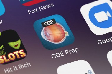 London, United Kingdom - September 30, 2018: Close-up shot of Higher Learning Technologies's popular app COE Prep.