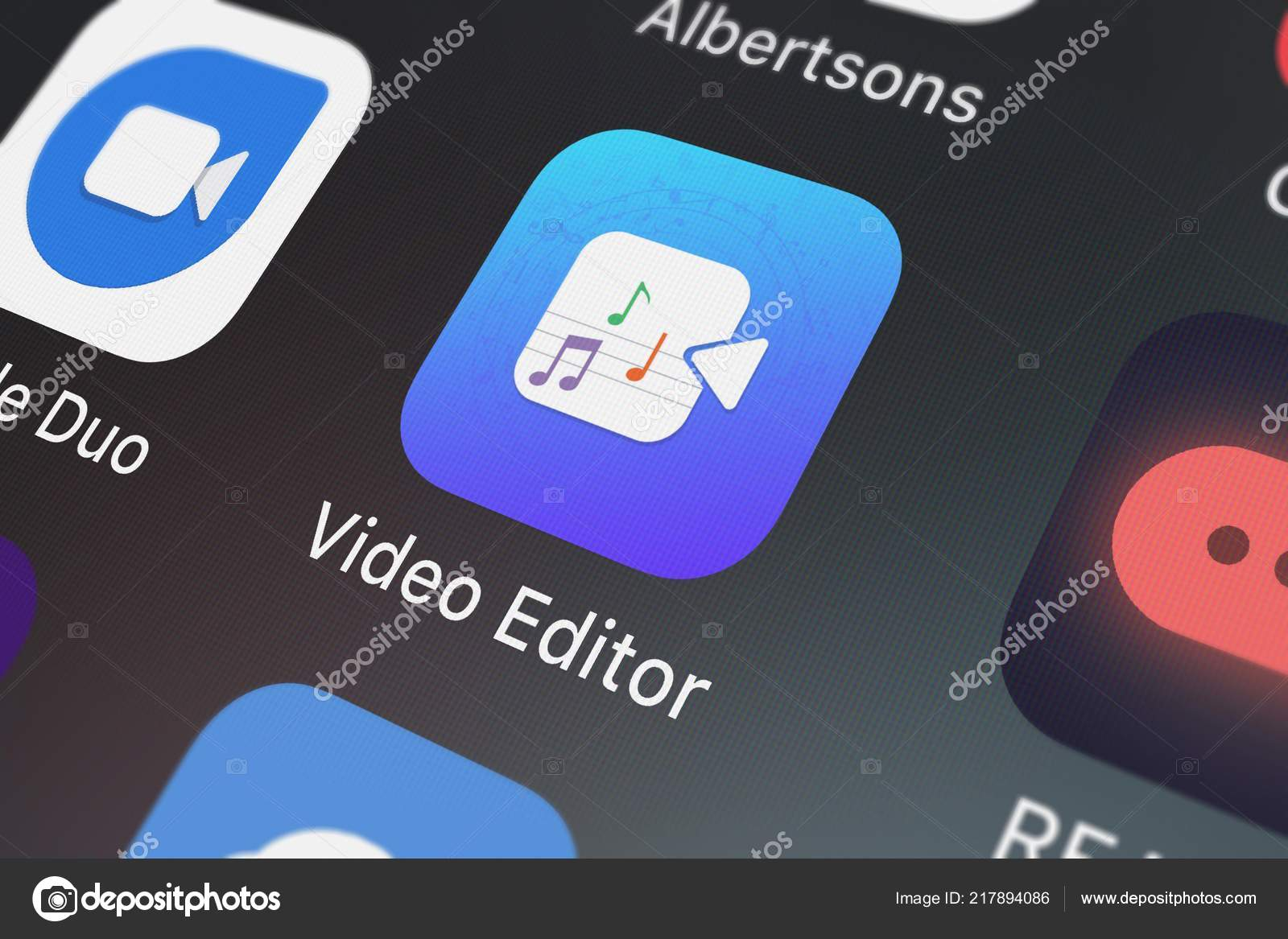 London United Kingdom September 2018 Screenshot Video Editor