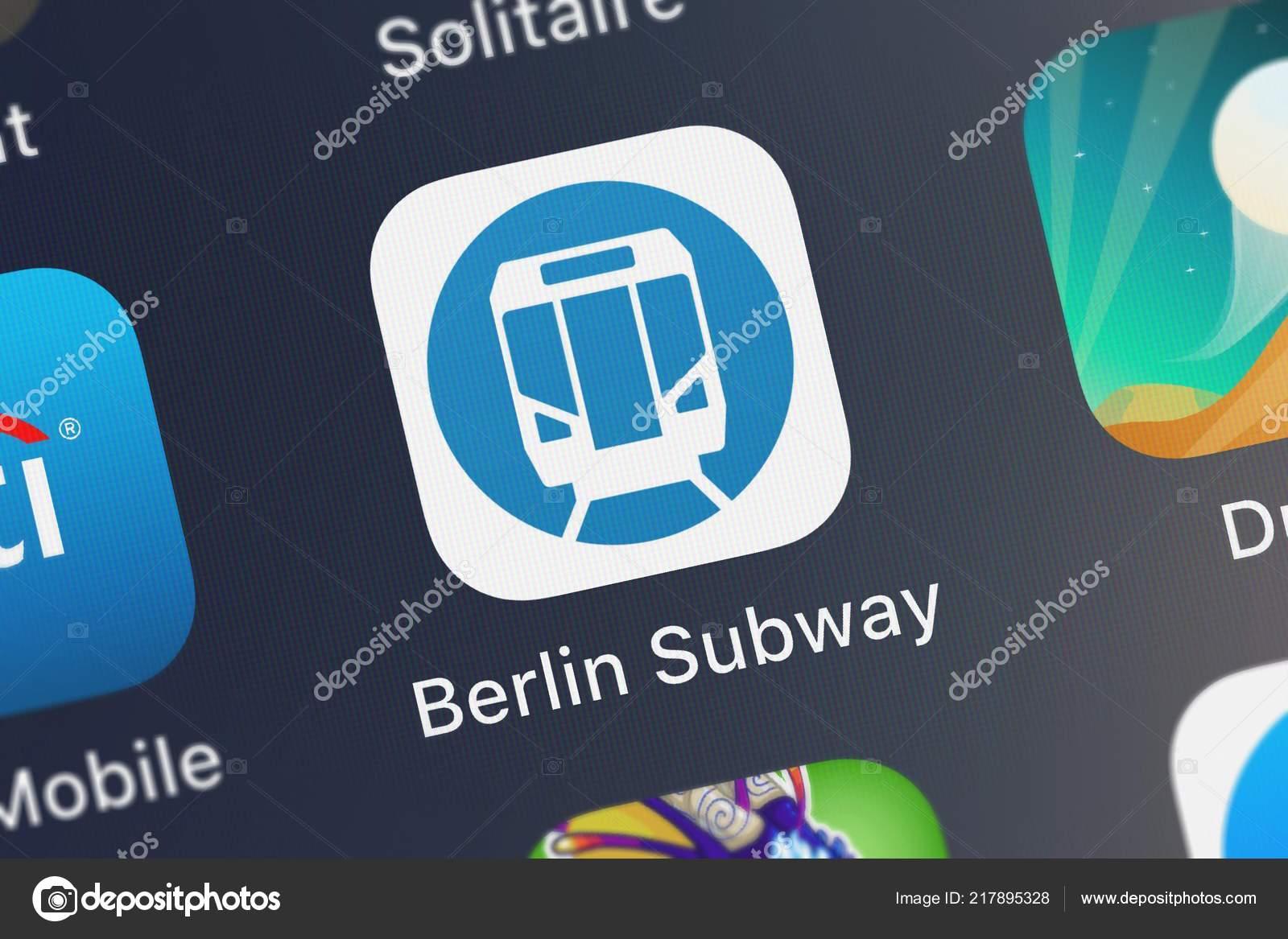 Berlin Subway Map Poster.London United Kingdom September 2018 Close Shot Berlin Subway Bvg