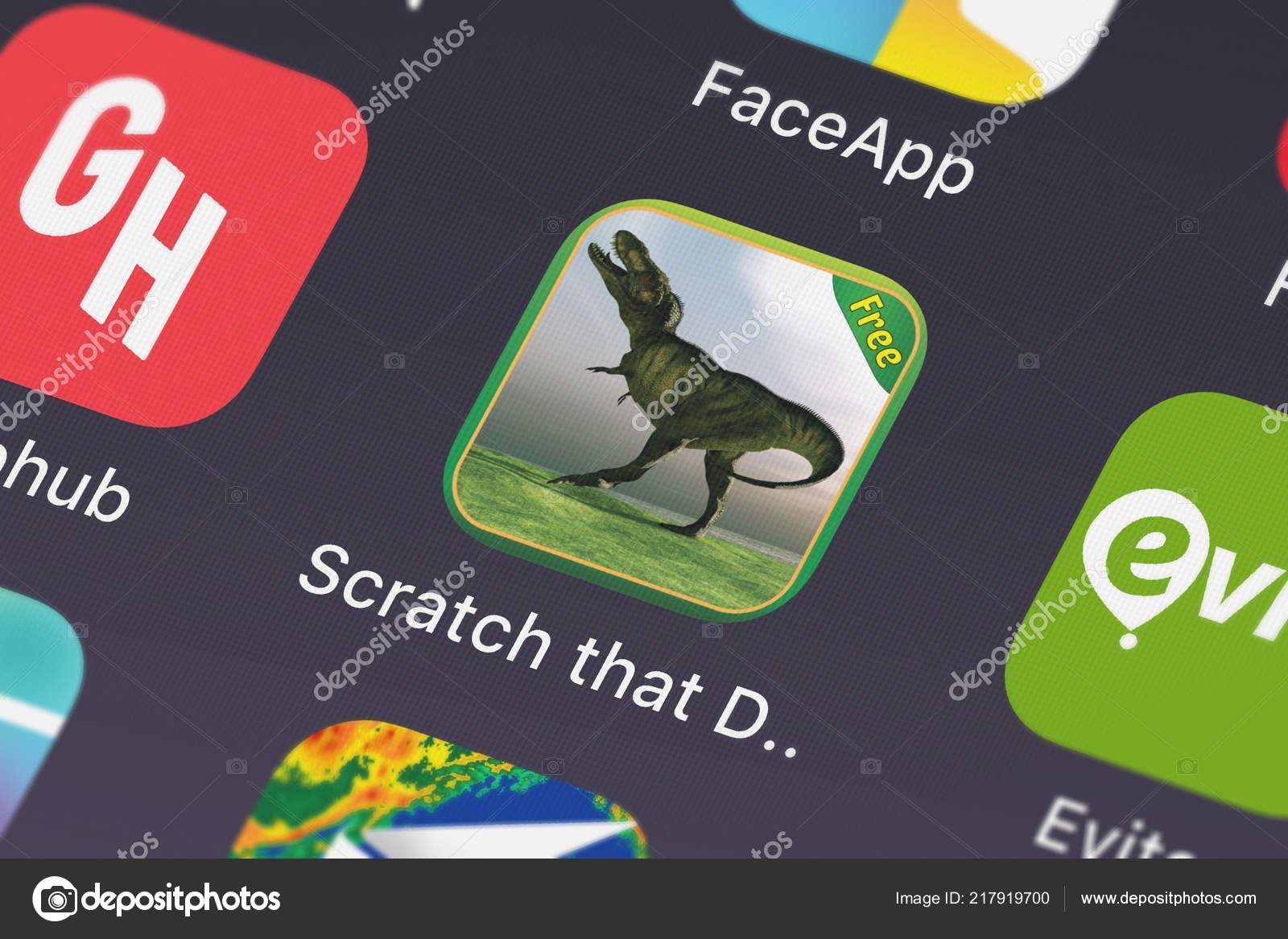 London United Kingdom October 2018 Close Scratch Dinosaur Game