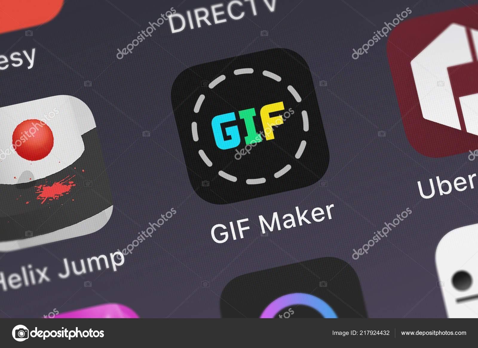 London United Kingdom September 2018 Icon Mobile App Gif Maker