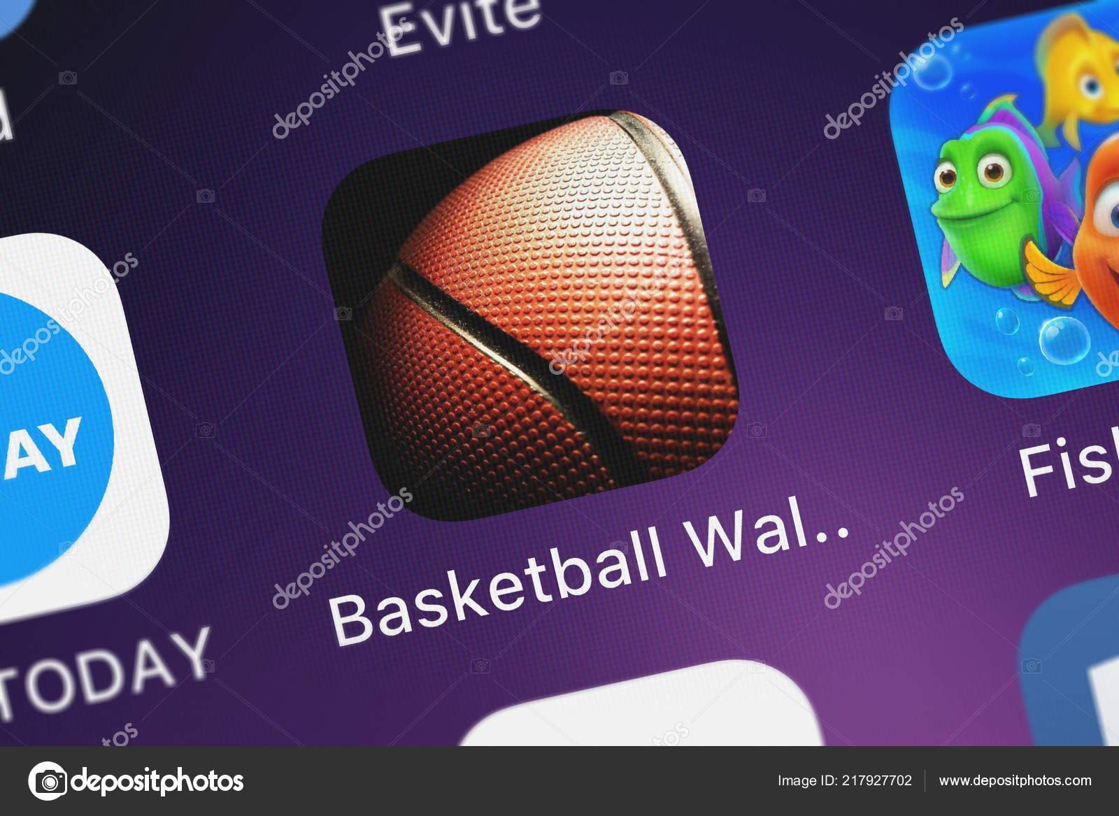 Wallpapers Cool Basketball For Iphone London United Kingdom October 2018 Screenshot Mobile App Basketball Wallpapers Stock Editorial Photo C Opturadesign 217927702