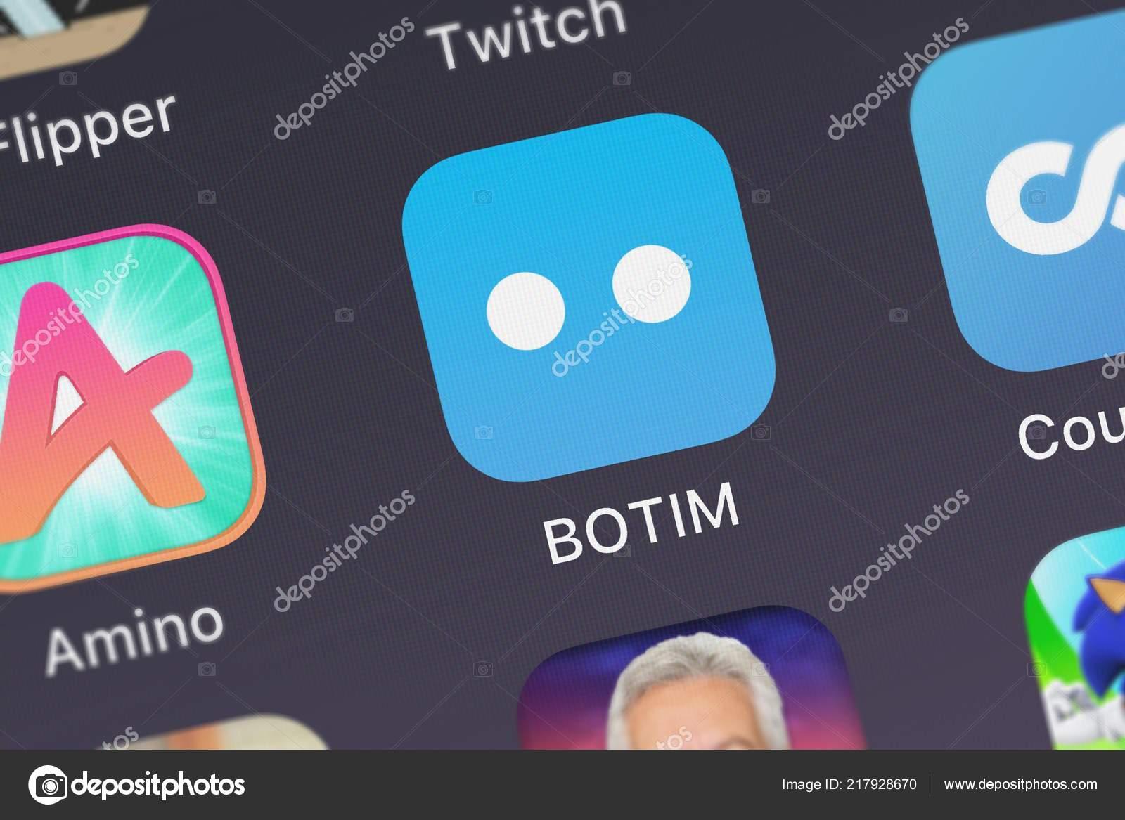 London United Kingdom September 2018 Icon Mobile App Botim