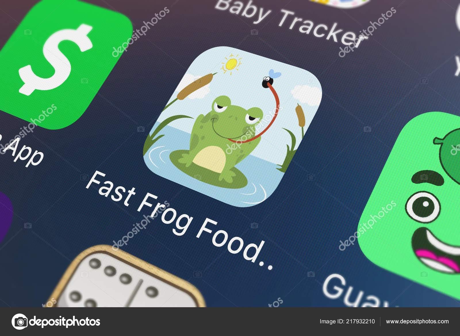 London United Kingdom September 2018 Fast Frog Food Race Fly