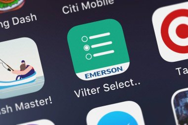London, United Kingdom - October 01, 2018: Screenshot of the mobile app Vilter Select Lite from Emerson Climate Technologies, Inc..