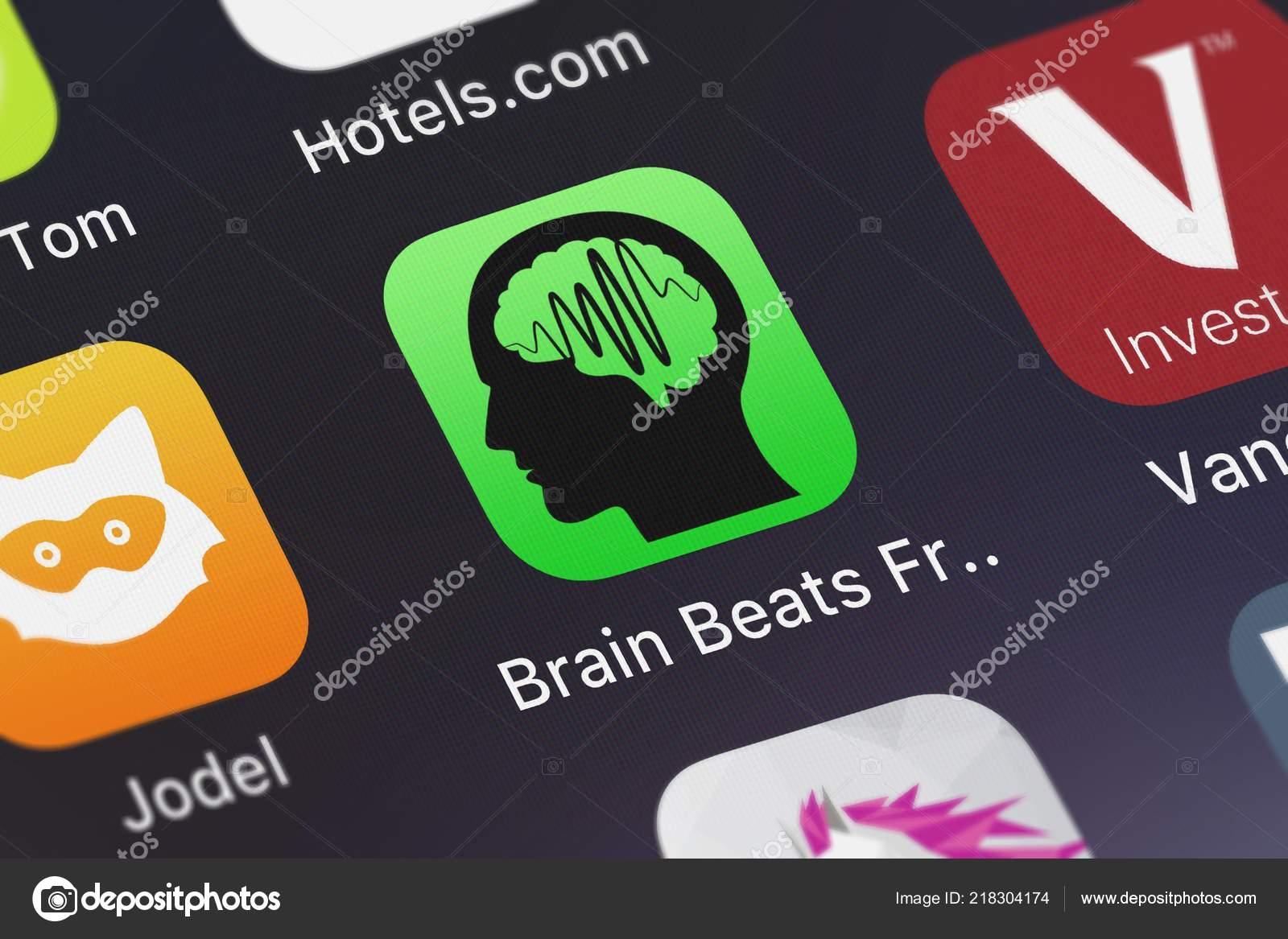 London United Kingdom October 2018 Icon Mobile App Brain