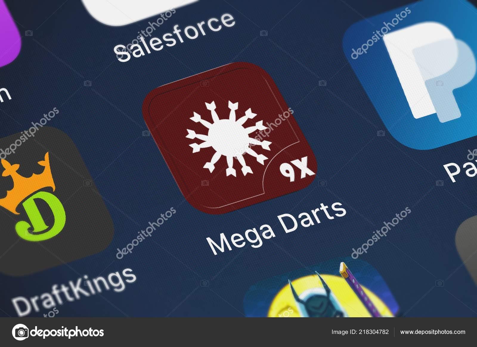 London United Kingdom October 2018 Icon Mobile App Mega