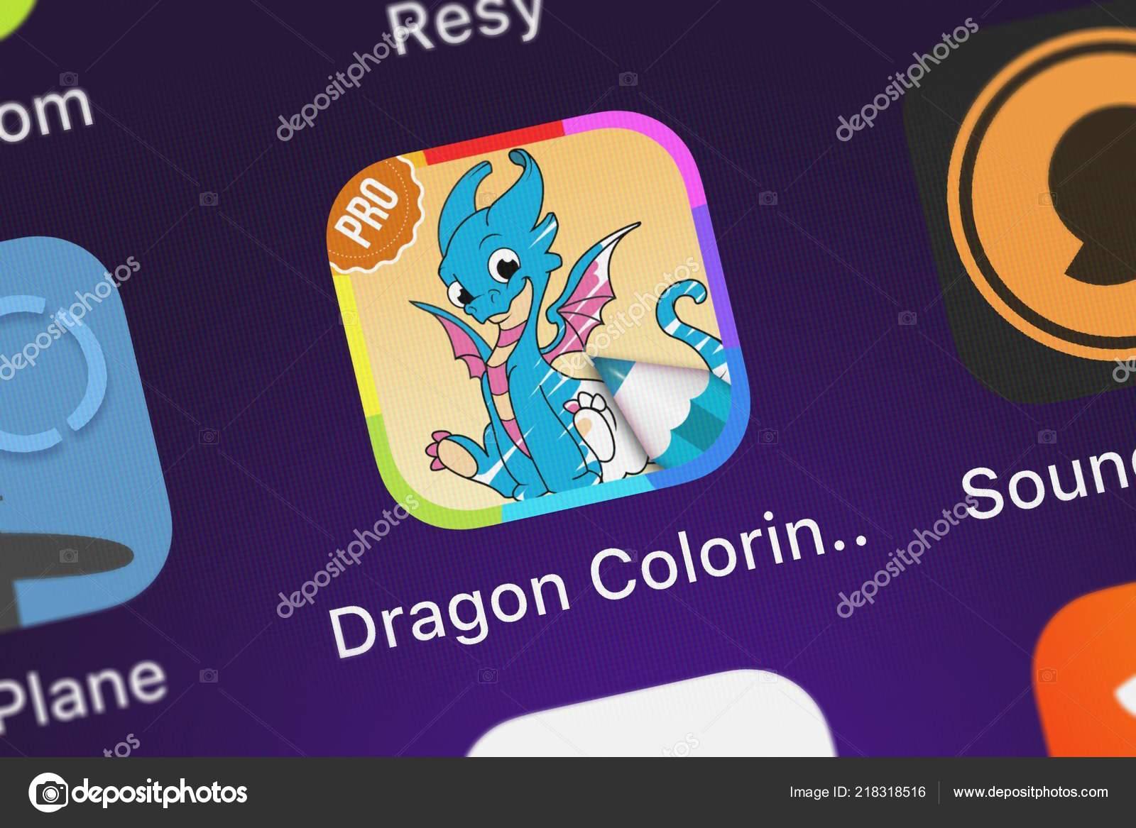 Londres Reino Unido Outubro 2018 ícone App Móvel Dragão