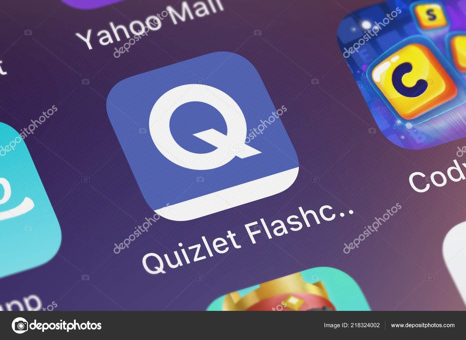 London United Kingdom October 2018 Icon Mobile App Quizlet