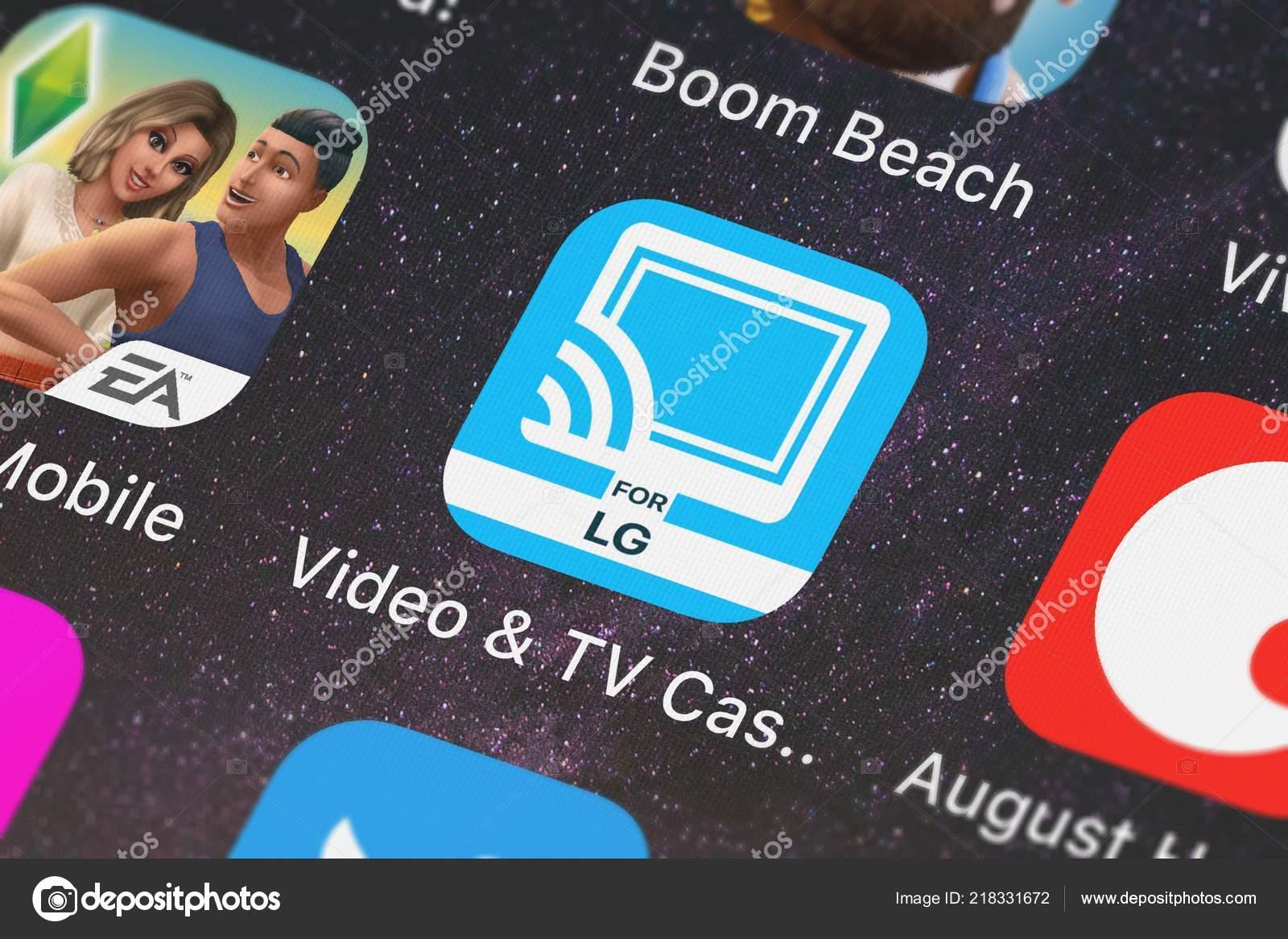London United Kingdom October 2018 Video Cast Mobile App 2Kit