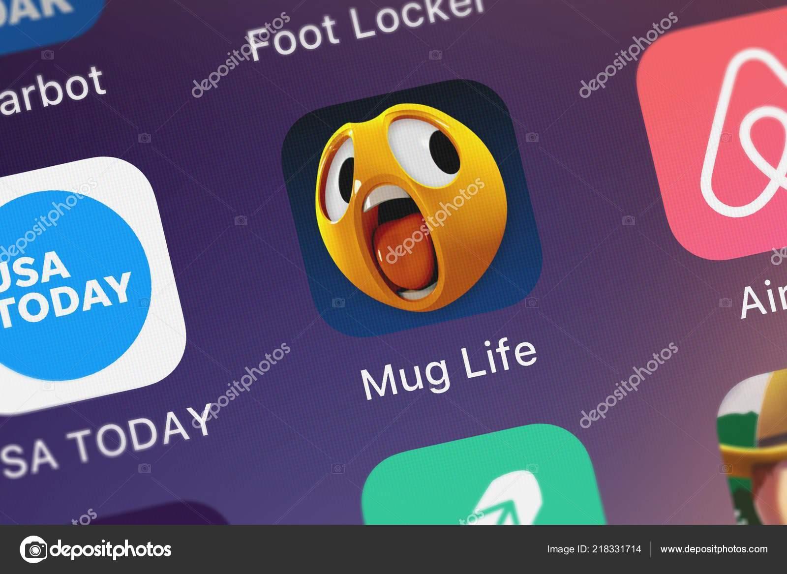 London United Kingdom October 2018 Mug Life Face Animator
