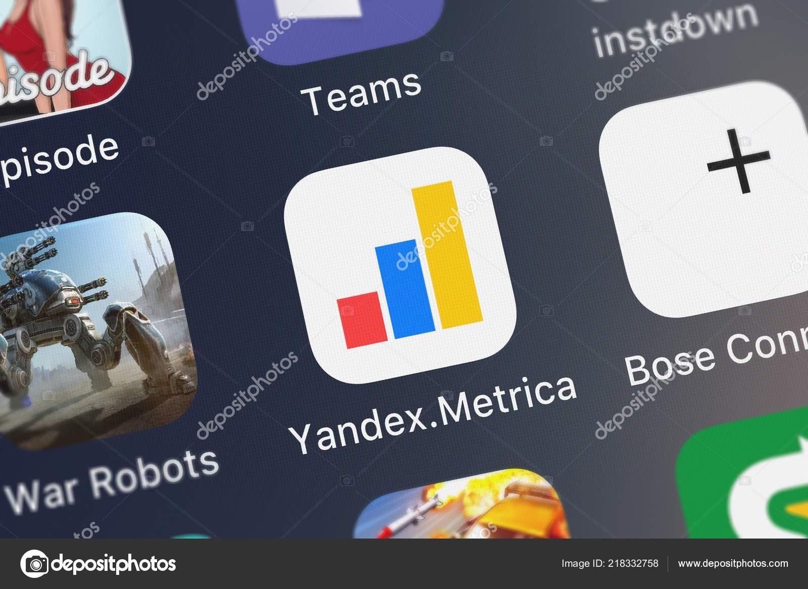 London United Kingdom October 2018 Screenshot Yandex Metrica