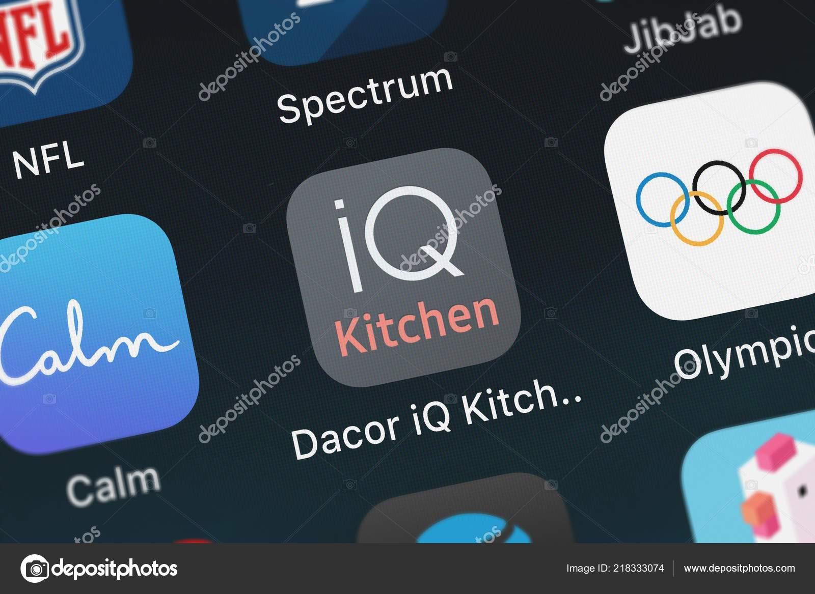 London United Kingdom October 2018 Icon Mobile App Dacor