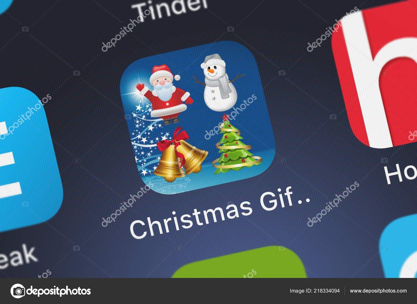 London United Kingdom October 2018 Icon Mobile App Christmas