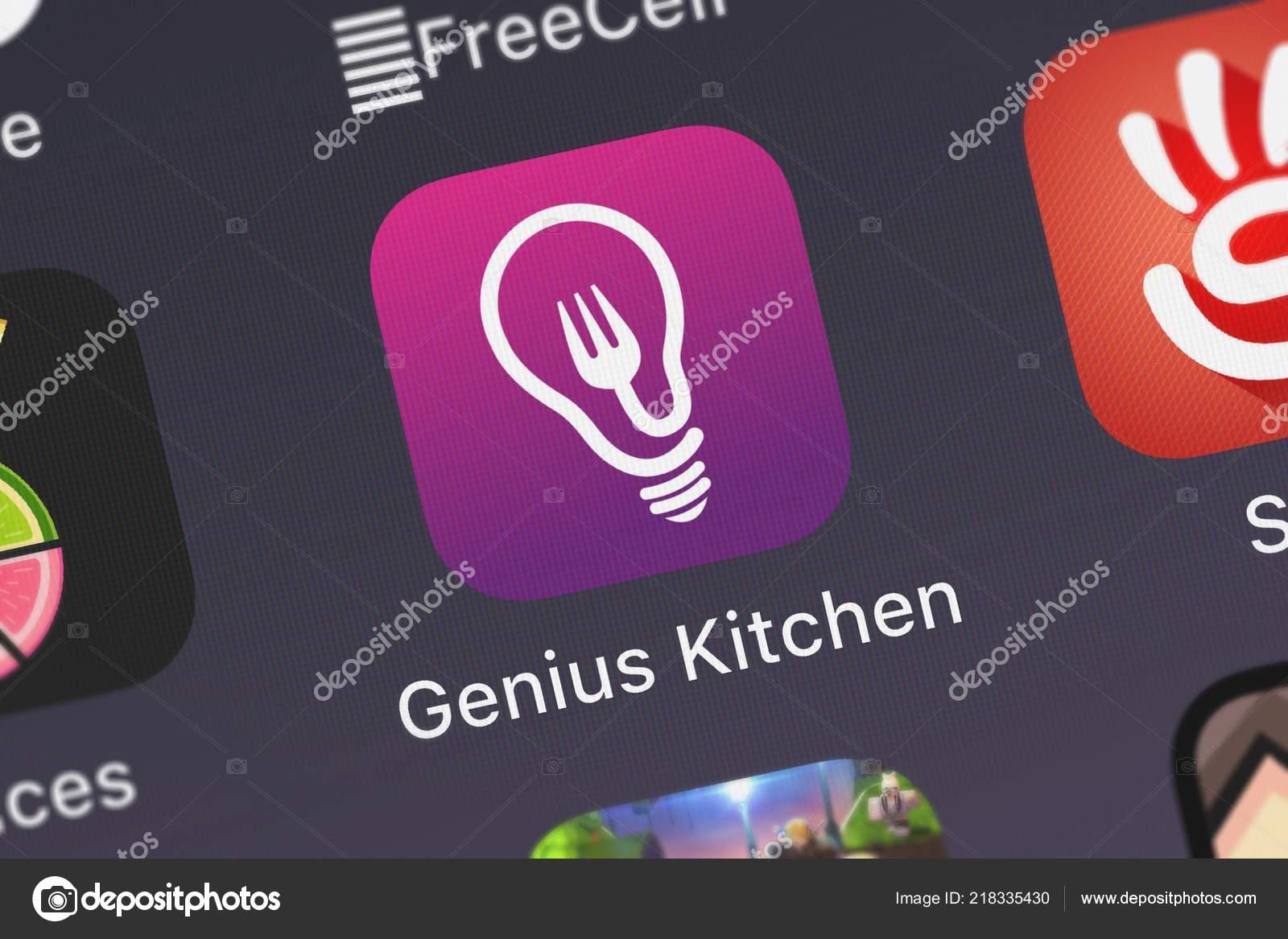 London United Kingdom October 2018 Screenshot Genius Kitchen