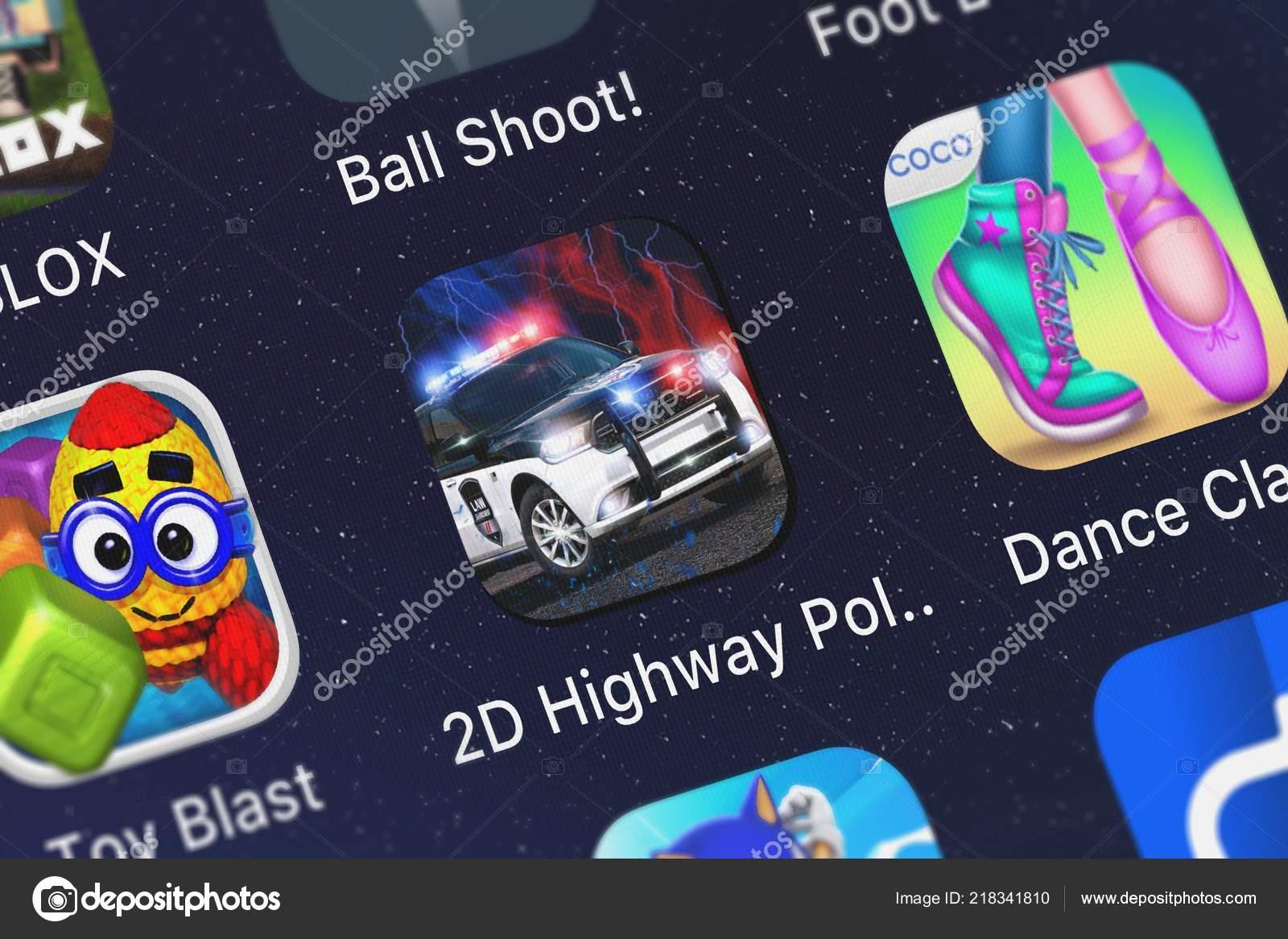 London United Kingdom October 2018 Screenshot Highway Police