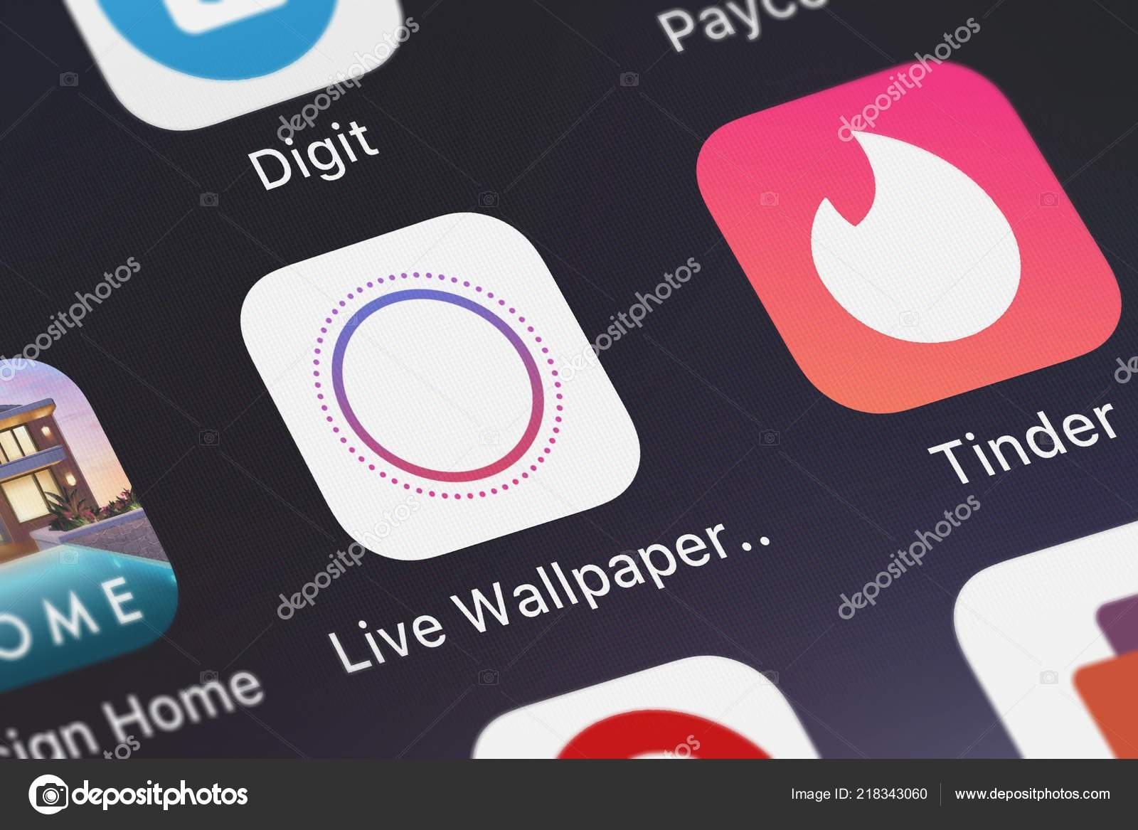 London, United Kingdom - October 01, 2018: The Live Wallpapers for iPhone 6s - Free Animated Themes and Custom Dynamic Backgrounds mobile app from Daud ...