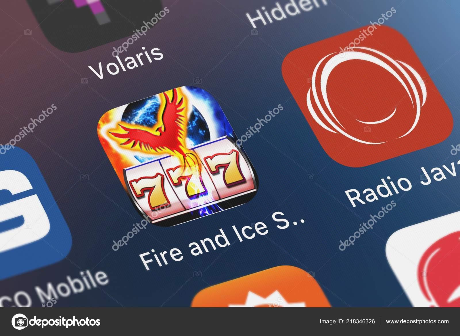 London United Kingdom October 2018 Fire Ice Slots Free Slot