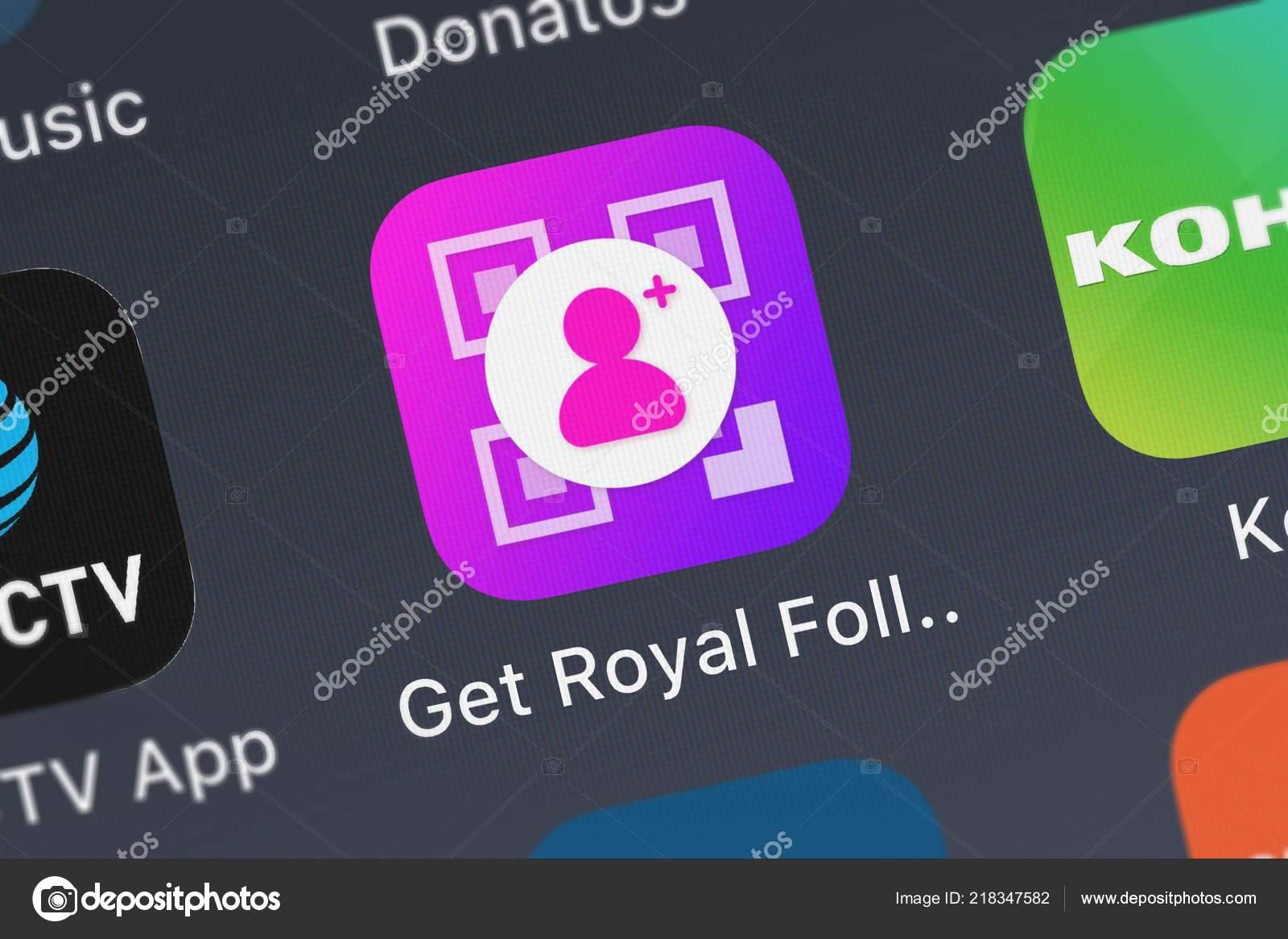 London United Kingdom October 2018 Icon Mobile App Get Royal