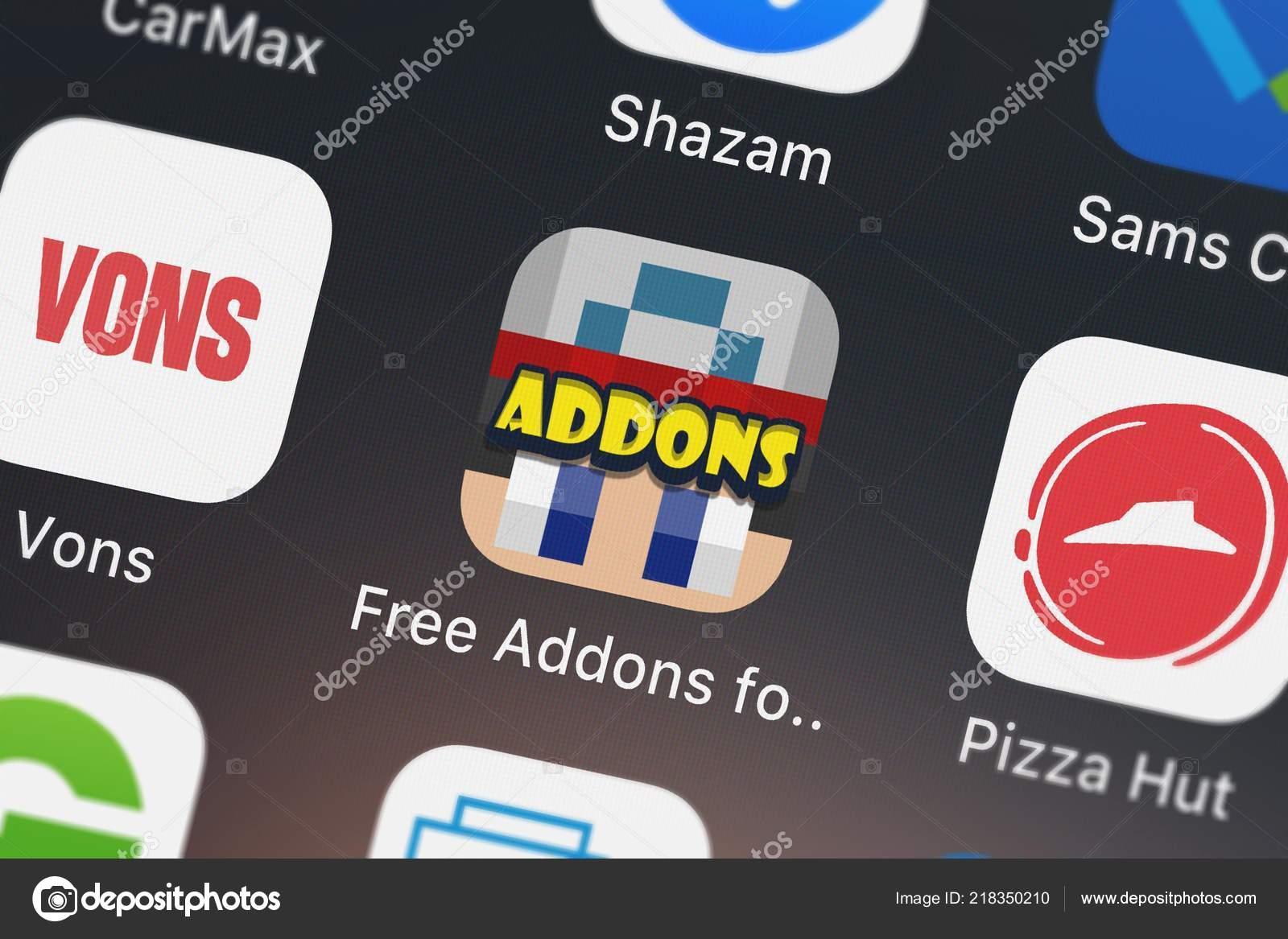 London United Kingdom October 2018 Close Shot Free Addons Minecraft