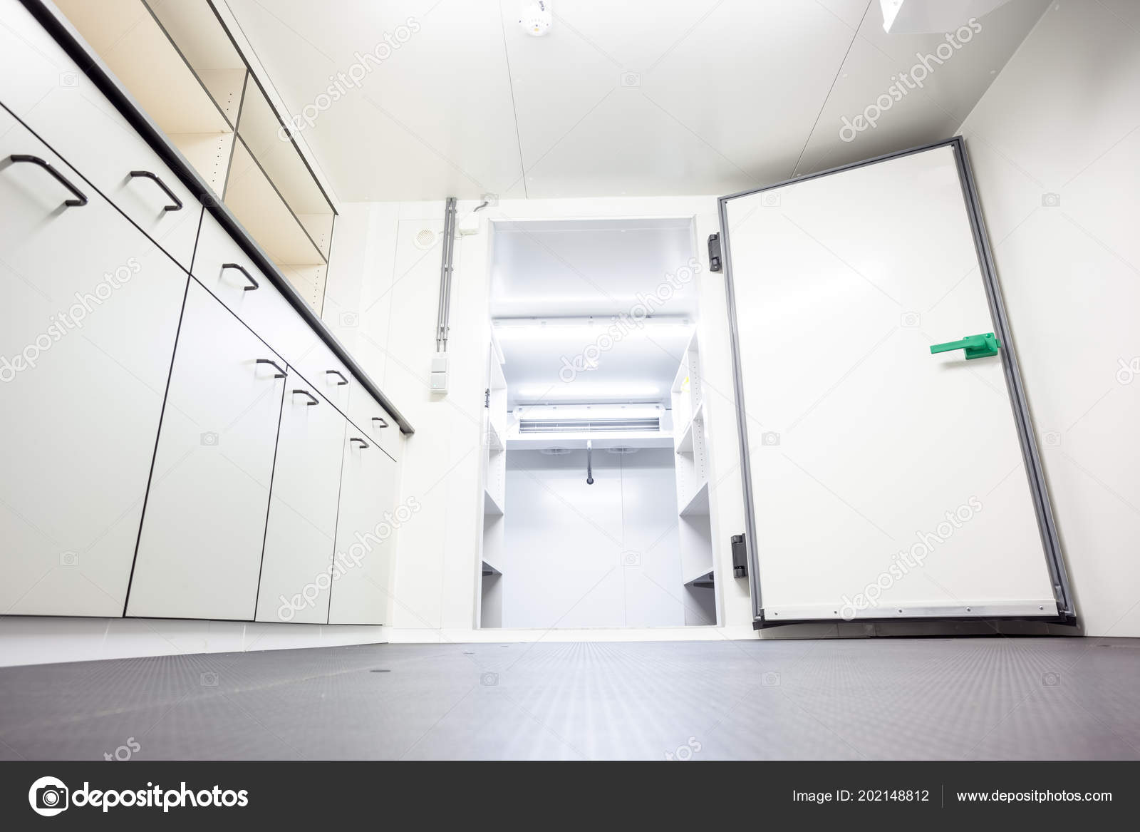An Empty Industrial Room Refrigerator With Four Fans Photo By DenBoma