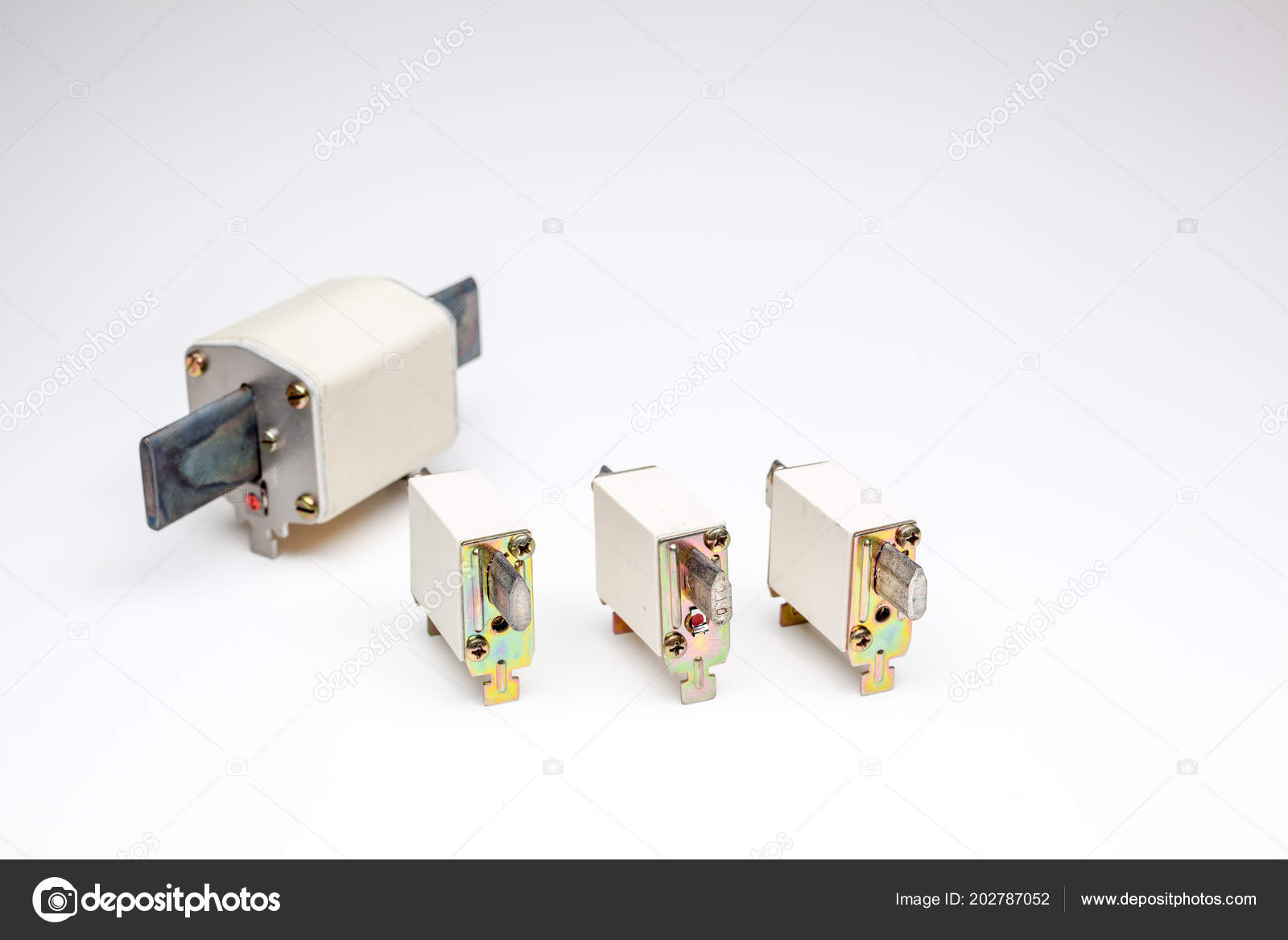 Old Times Industrial Electrical Fuse Stock Photo Denboma Plug Sockets And Wiring For Electricity Royalty Free Image