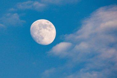 full moon in blue sky, super moon