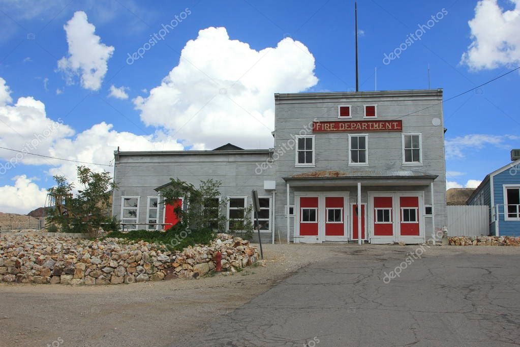 old fire department building, USA