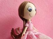 Růžová panenka ručně vyrobené
