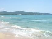 Výhled na krásné moře pobřeží