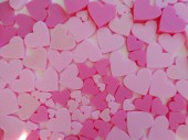 Mix of Pink 3D Heart Shapes in Various Sizes