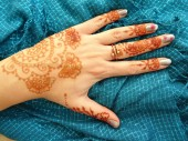 Indian Tattoo egy női kéz