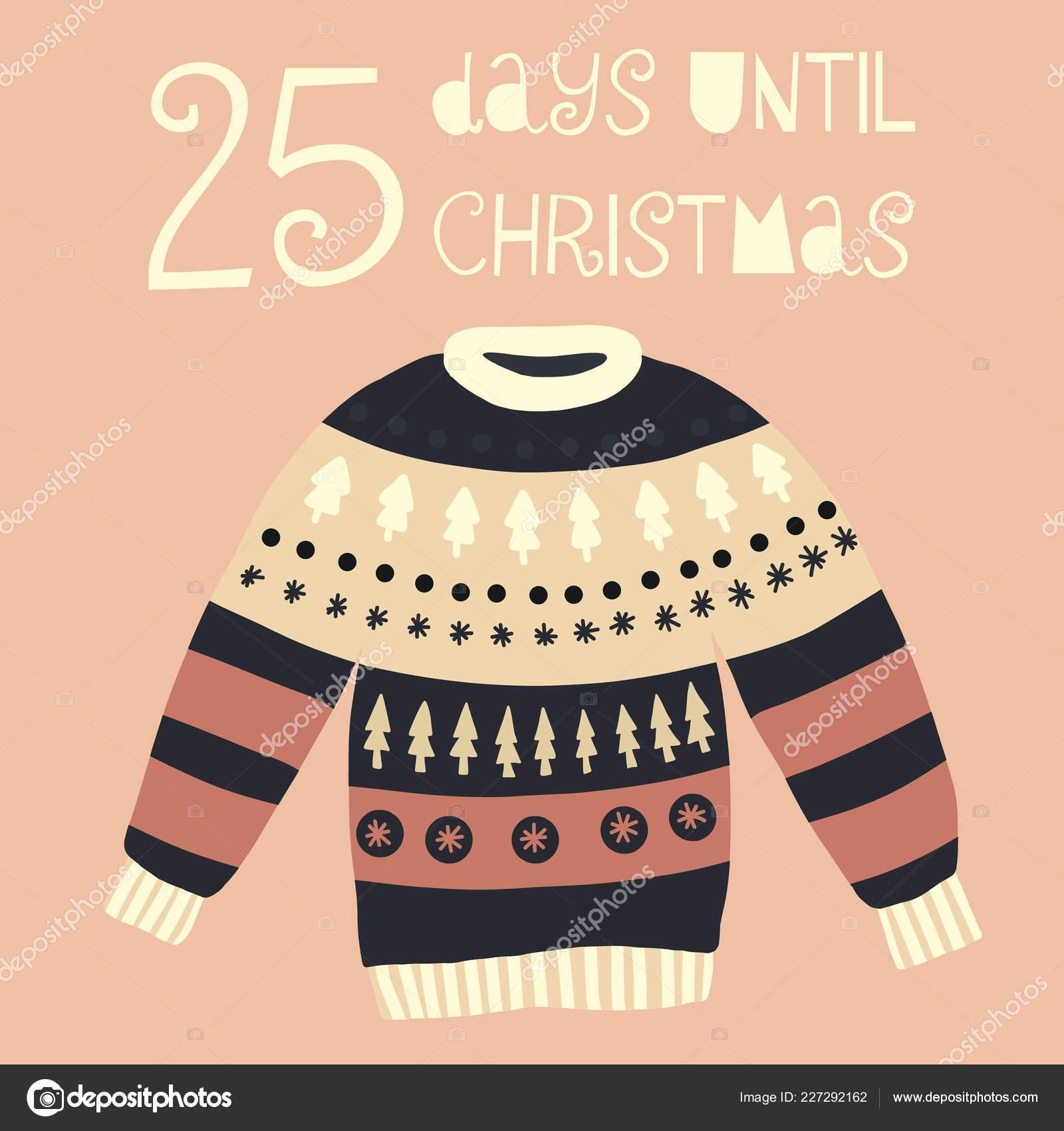 Days Until Christmas Countdown.Days Christmas Vector Illustration Christmas Countdown