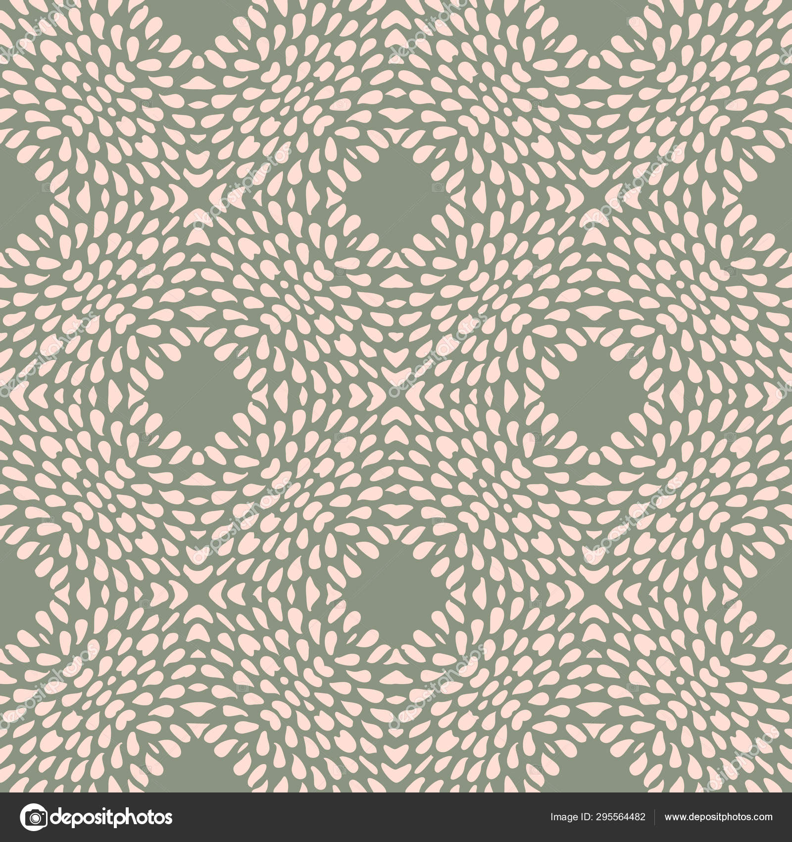 Vector Seamless Pattern With Irregular Dots Texture In