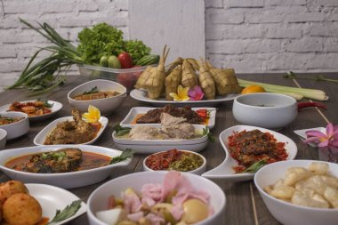 various Indonesian food and culinary