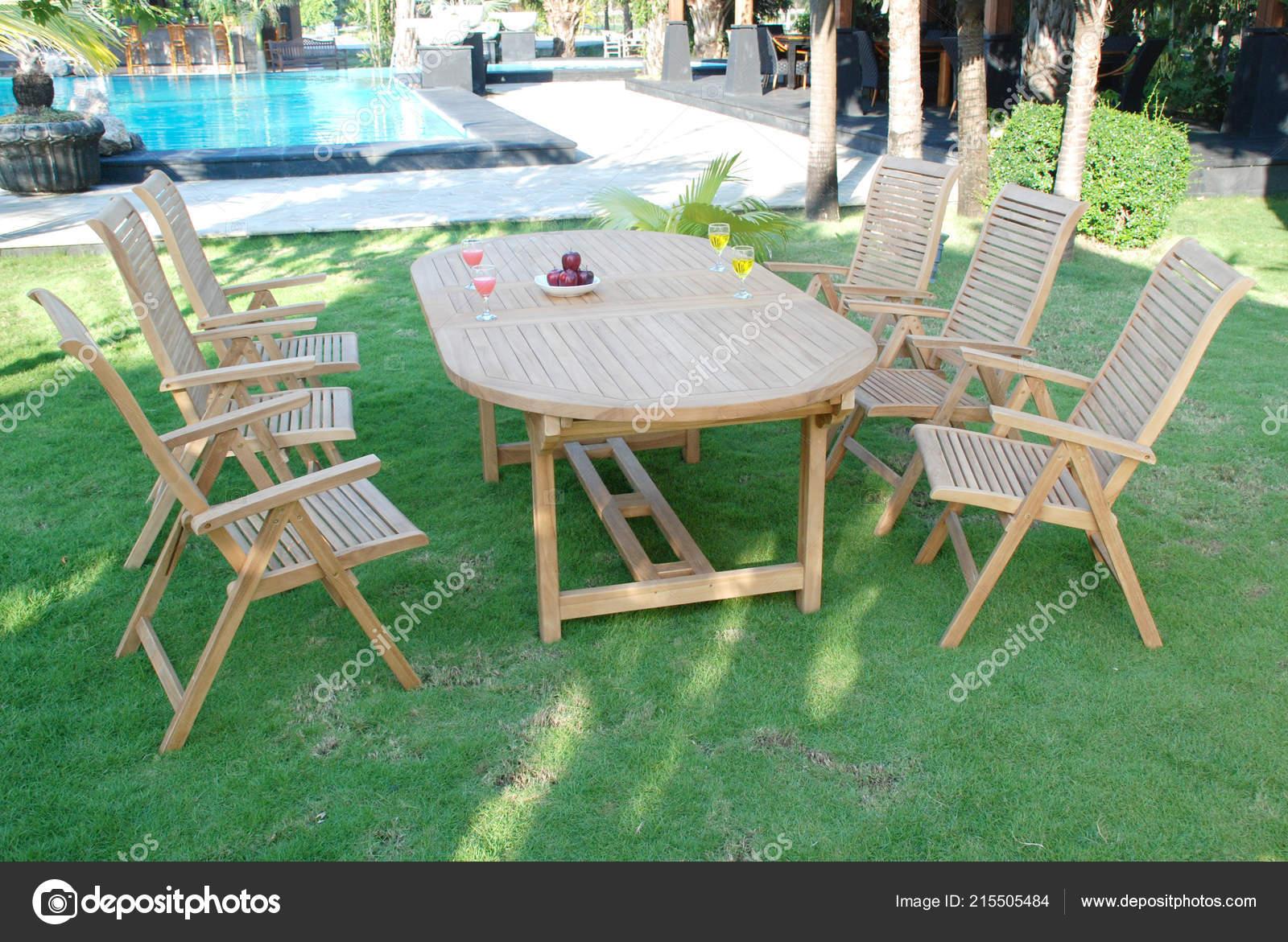 Set Meubles Jardin Teck Mobilier Jardin Extérieur Teck Chaises ...